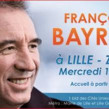 bayrou, Lille, meeting, présidentielle